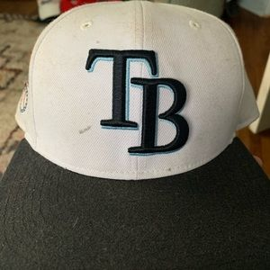 White Tampa Bay Rays snap back